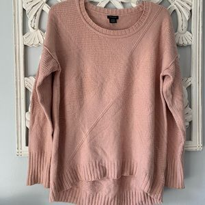 Adorable Cozy Oversized High/Low CK Blush Sweater